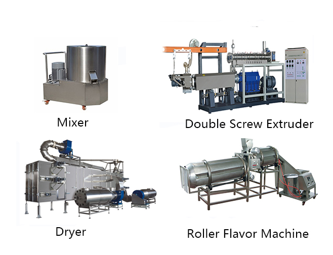 3d snack extruder processing line
