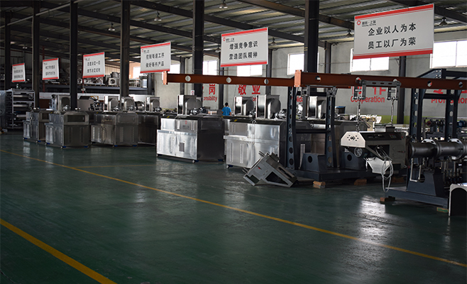 fried flour snack food processing machine