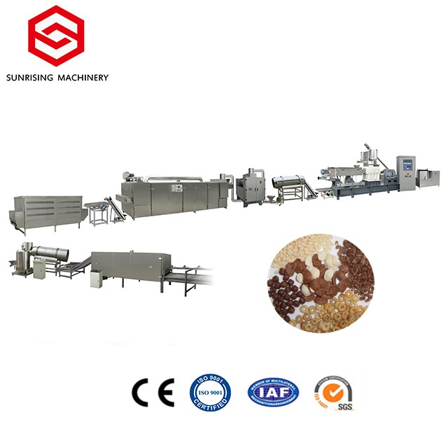 Breakfast Cereal Corn Flakes Snack Food Extruder Machine