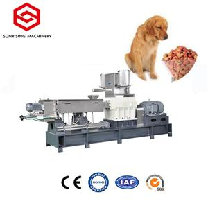 Extruder dog pet food processing equipment