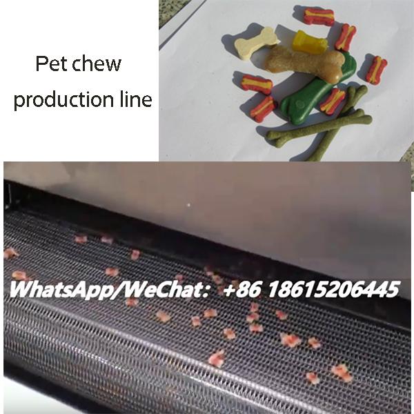 Pet dog chew production line