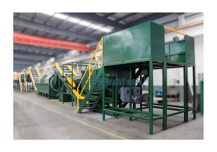 3000kg/h PET Bottle Recycling And Washing System