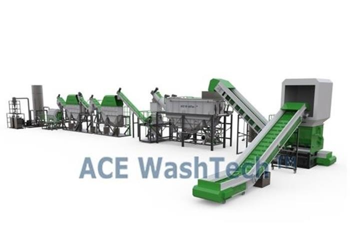 ECO2000 Waste PE PP Film Recycling And Washing Line