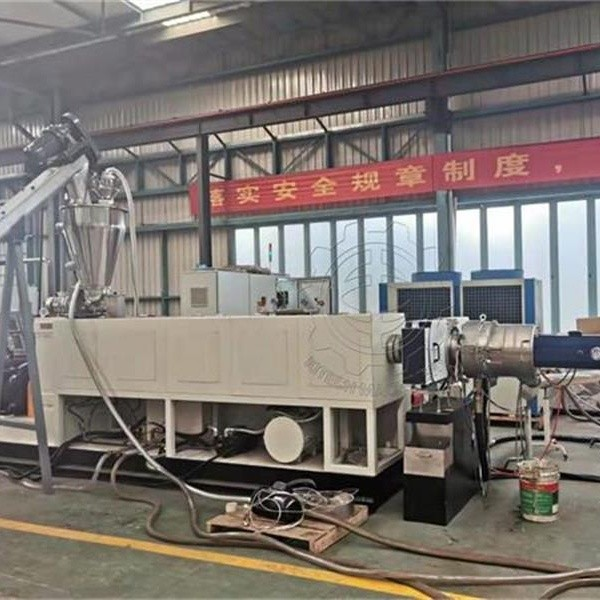 KSP100 Single screw extrusion line with Mixer and Vacuum feeder