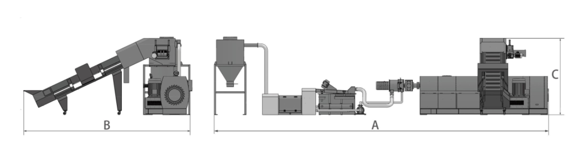PE film two stage pelletizing line