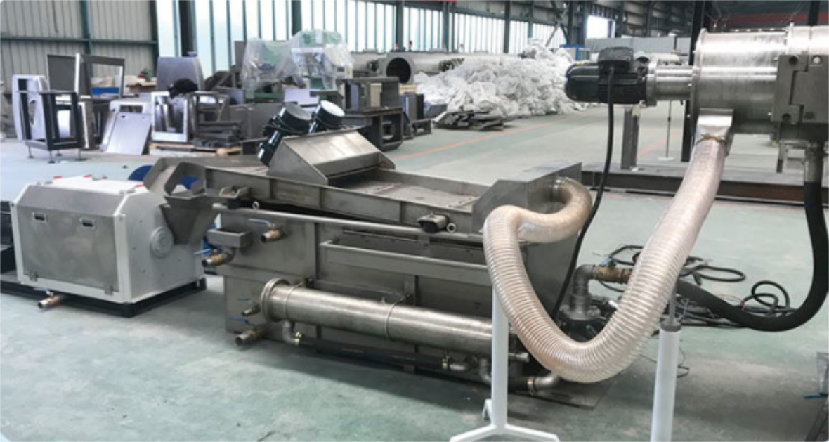 HDPE pipe flakes granulation line