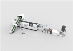 PP PE Film Agglomeration And Water-ring Pelletizing Line