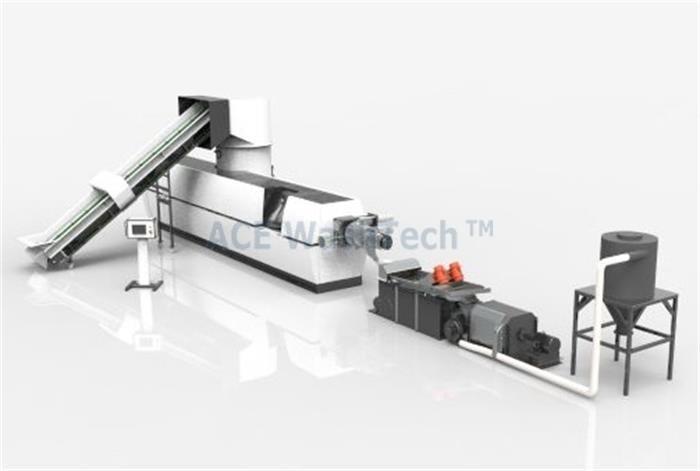 AWTech 160 PP PE Пластиковый гранулятор Линия для гранулирования