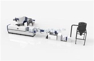 Línea de granulación de anillo de agua y aglomeración de película de PE AWTech 80 PP