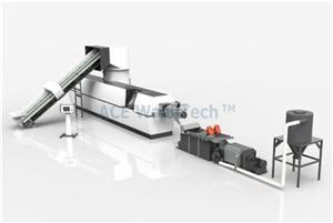 Two stage PP woven bag recycling and granulation system