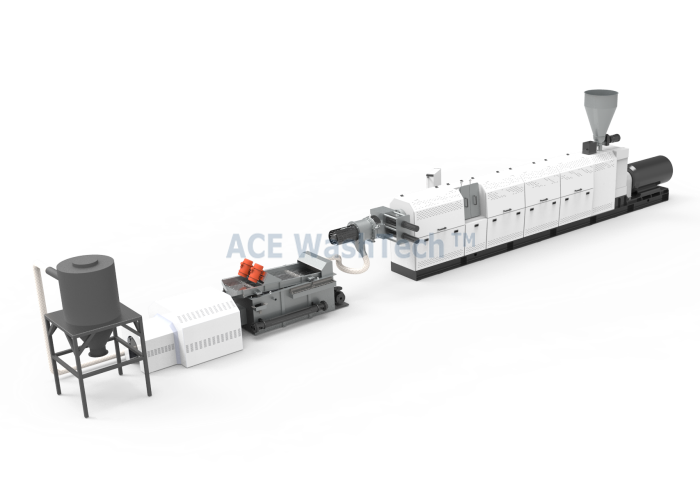 AWTS 100 120 Two-stage Extrusion And Pelletizing System