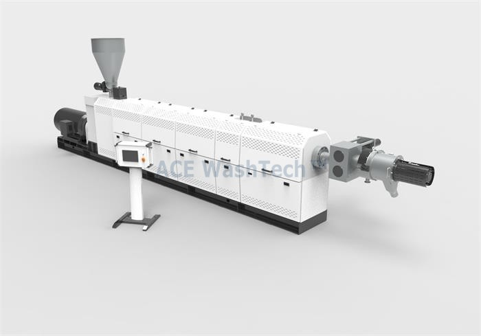 AWTS 120 PP PE Flakes Extrusion And Pelletizing System