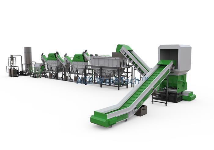3000 Kg/h PE PP Plastic Washing Line