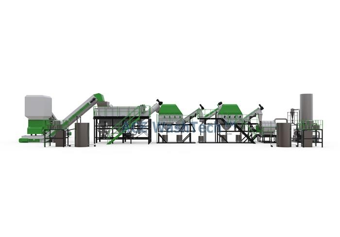 2000 Kg/h PE PP Washing And Recycling System