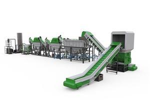 5000 Kg / h PE PP Sert Plastik Yıkama Sistemi