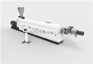 KSP100 HDPE pipe flakes granulation Testing