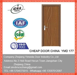 MDF PVC Interior Wooden Doors For Project