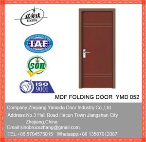 PVC MDF Interior Doors With Glass