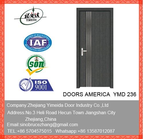 Pvc Wooden Door With For Bathrooms
