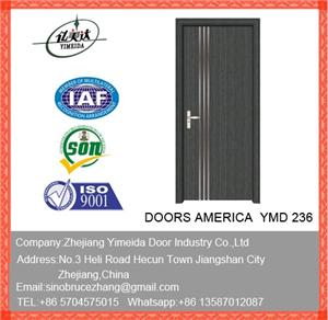 Pvc Wooden Door With For Bathrooms