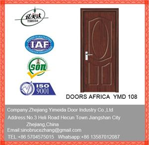 PVC Wooden MDF Carved Wood Door With Glass
