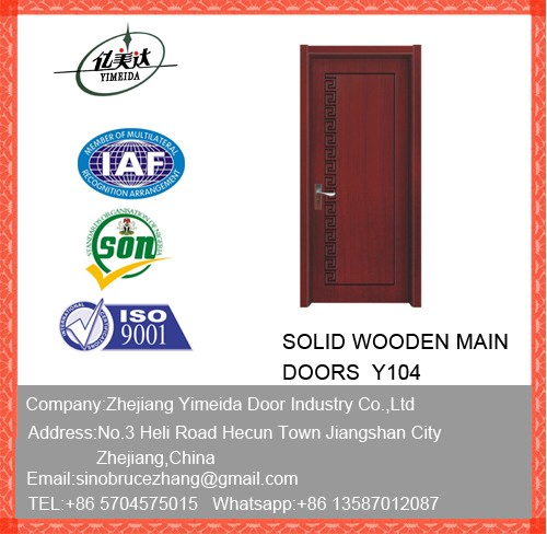 Oak Veneer Solid Wooden Doors Internal