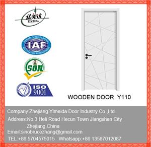 Solid Interior Wooden Panel Door For Bedrooms