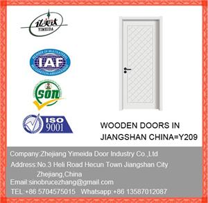 Wood Veneer Finish Interior Glass Sliding Doors For Hotels