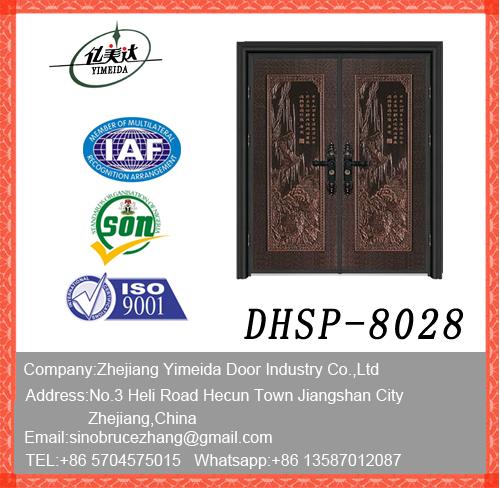 New Design Doule Leaf Copper Door