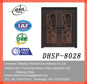 New Design Doule Leaf Copper Door