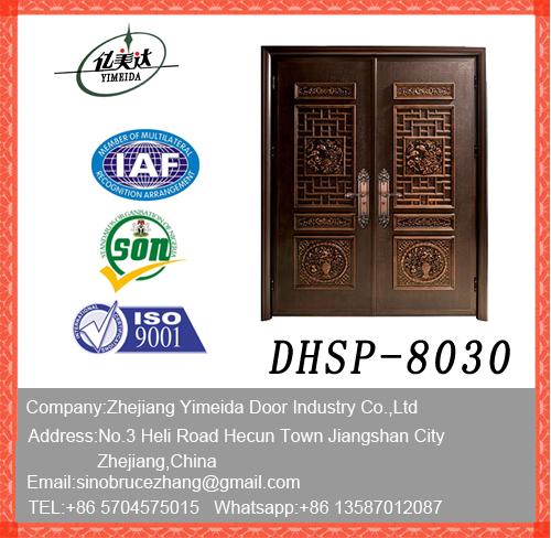 New Design Doule Leaf Copper Door Manufacturers, New Design Doule Leaf Copper Door Factory, Supply New Design Doule Leaf Copper Door