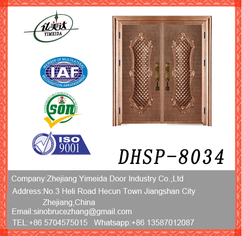 New Design Doule Leaf Copper Imitating Security Door Made In China Manufacturers, New Design Doule Leaf Copper Imitating Security Door Made In China Factory, Supply New Design Doule Leaf Copper Imitating Security Door Made In China