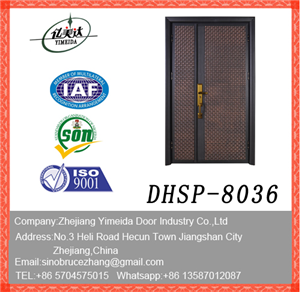 Stainless Steel Plating Copper Aluminum Door Designs