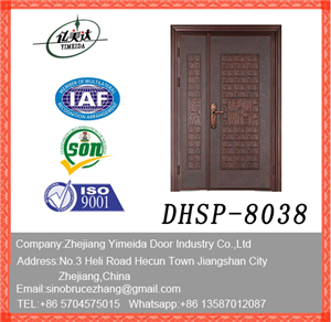 Villa Exterior Double Leaf Security Copper Aluminum Door
