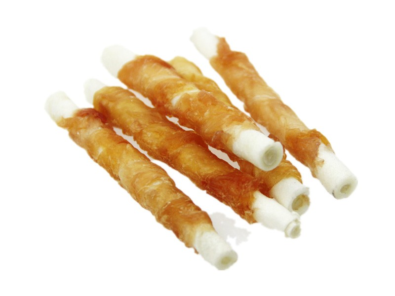 Dog Treats Chicken And Rawhide Roll