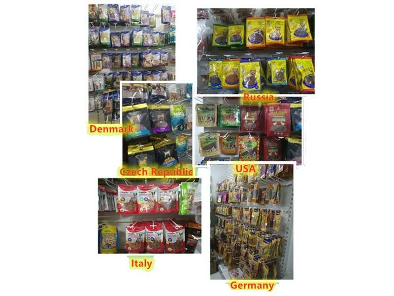 Nos produits pour animaux de compagnie sont exportés vers les États-Unis, l'Europe et l'Asie.