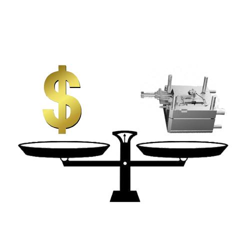 成形品のコスト計算にはどのような要素を含める必要がありますか?