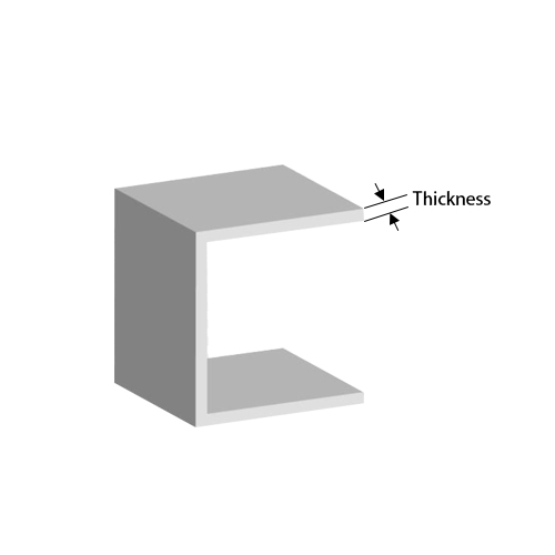 Why is it important to maintain the uniform thickness of the plastic molded parts?