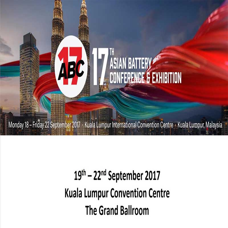 Welcome to 17th Asian Battery Conference Exhibition