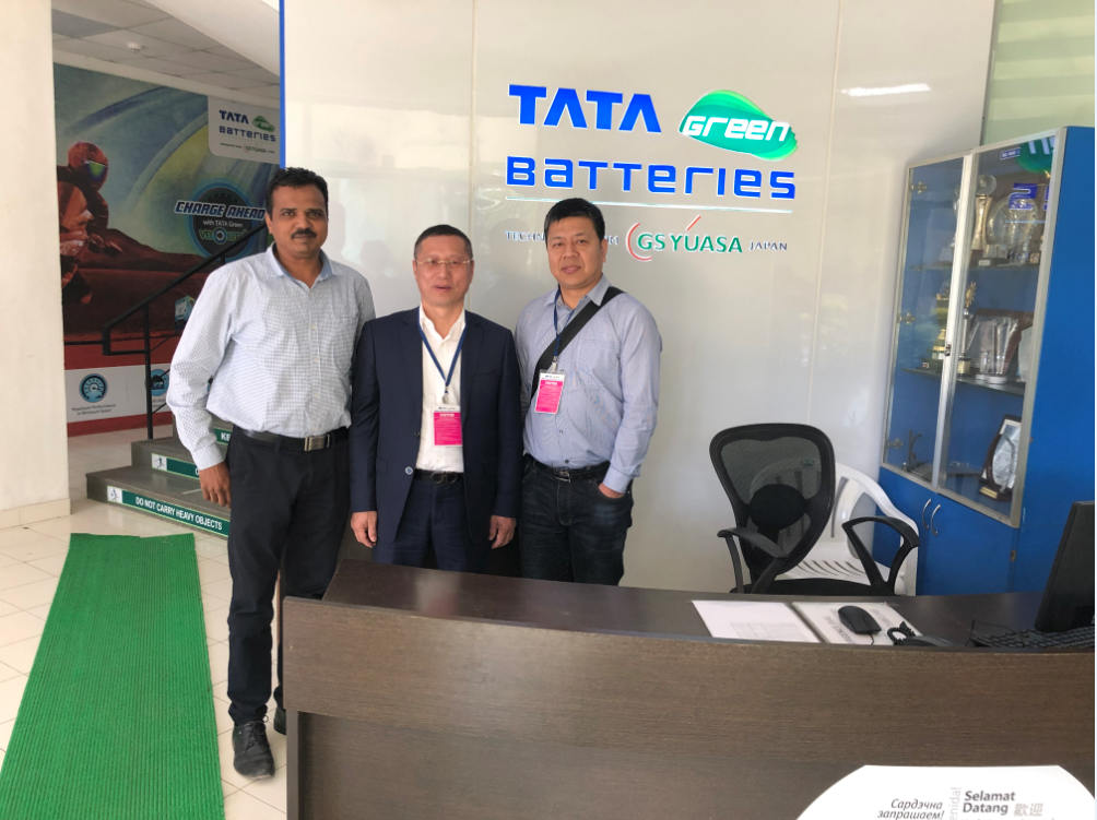Our director Mr. Chen Hong and GM Mr. Jackson visit famous customers in India