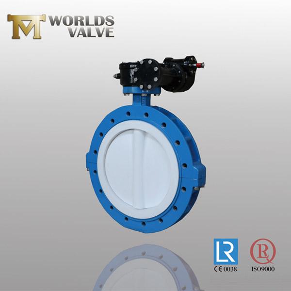 full PTFE lining butterfly valve