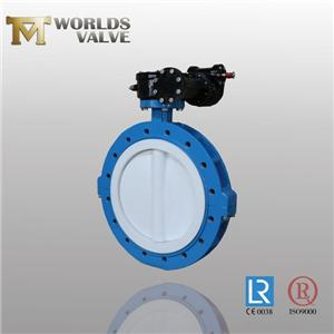 PTFE Coating Disc U Sectie Type Vlinderklep
