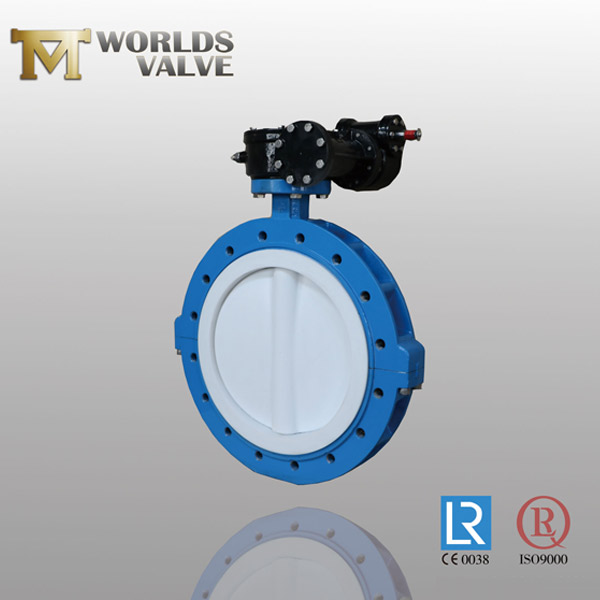 PTFE coating disc butterfly valve