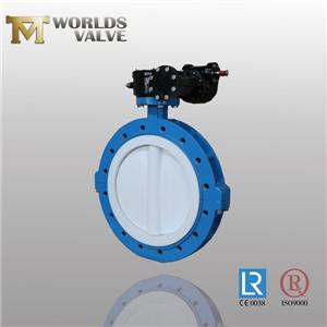 Full PFA Lining Lug Type Split Body Butterfly Valve