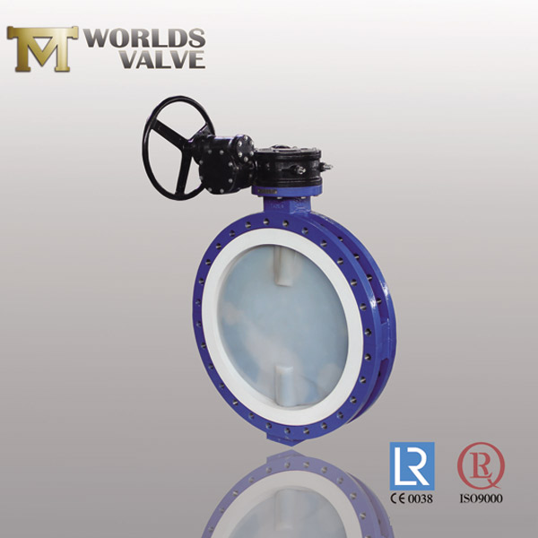 full PFA lined plate butterfly valve