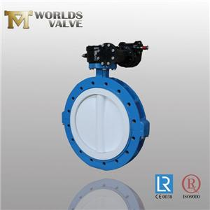 PFA Coating Disc U Section Type Butterfly Valve