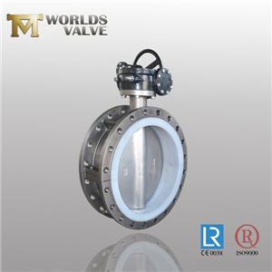 Split Body Two Shaft Full PFA Butterfly Valve