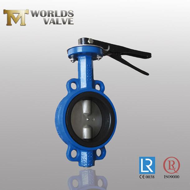 DIN standard wafer butterfly valve