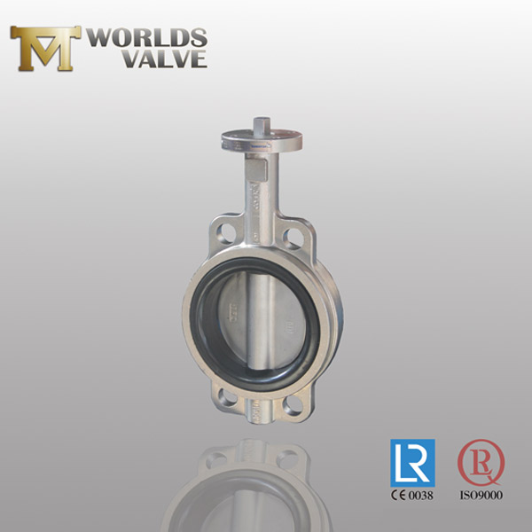 pinless wafer butterfly valve