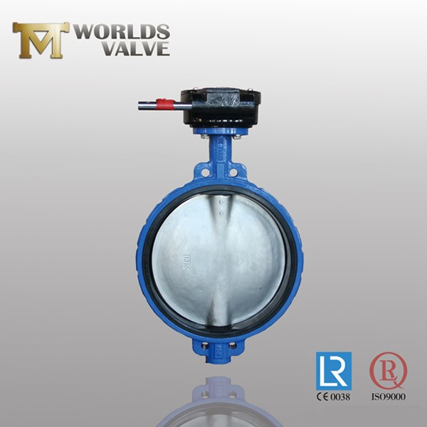 Undercut Disc Rubber Seated CF8 Wafer Butterfly Valve